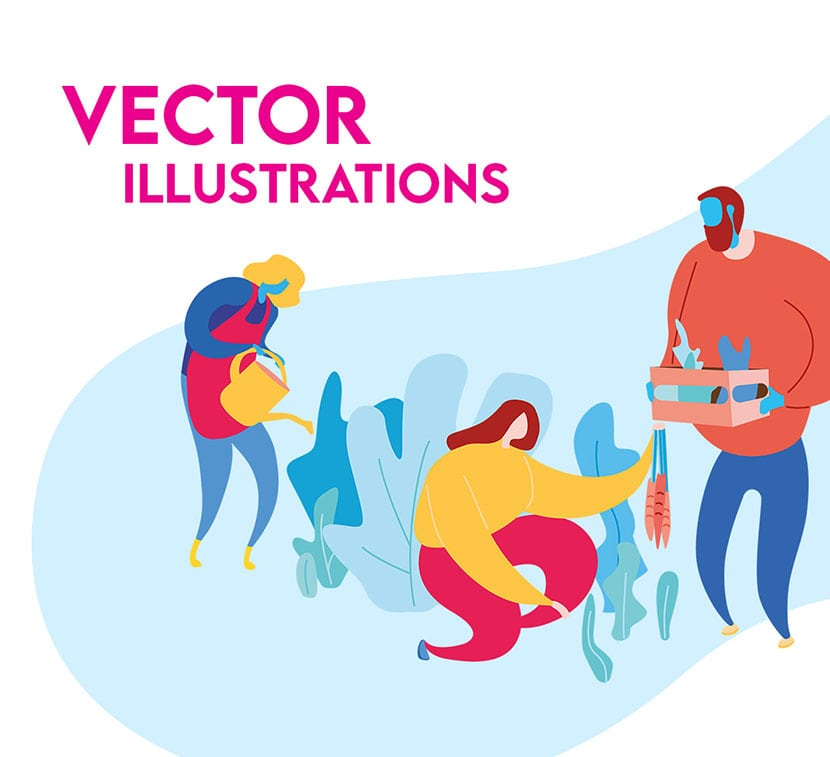 Vector character illustrations.